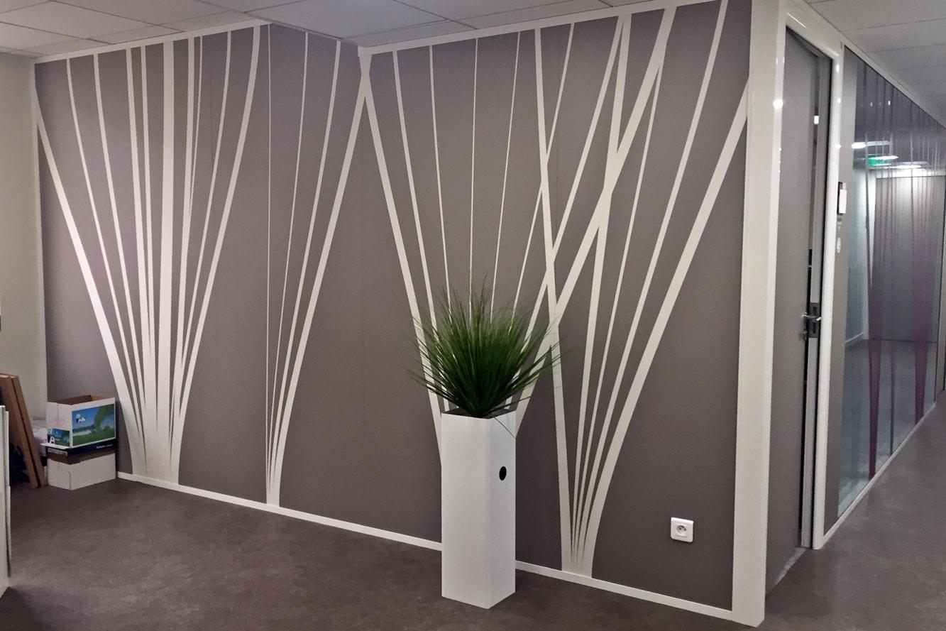decoration-murale-cloison-motif-vegetal